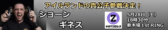 ショーン・ギネス参戦決定!